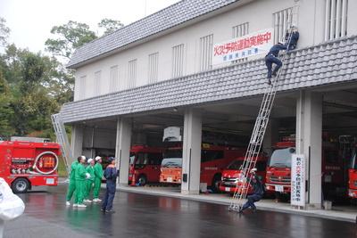 消防署見学の日に・・・